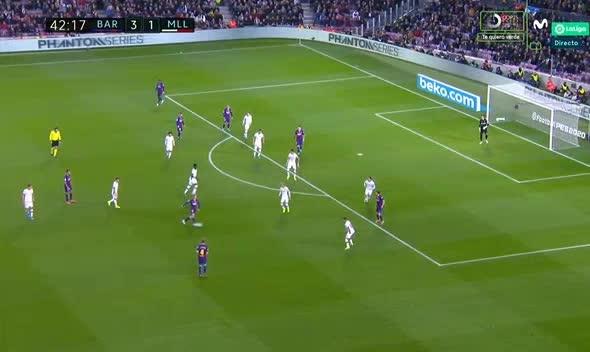هدف رابع ل برشلونة (لويس سواريز)