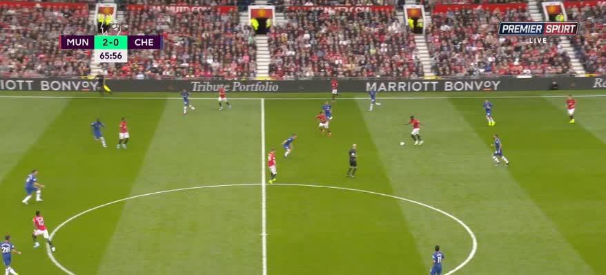 هدف ثالث ل مانشستر يونايتد (ماركوس راشفور)