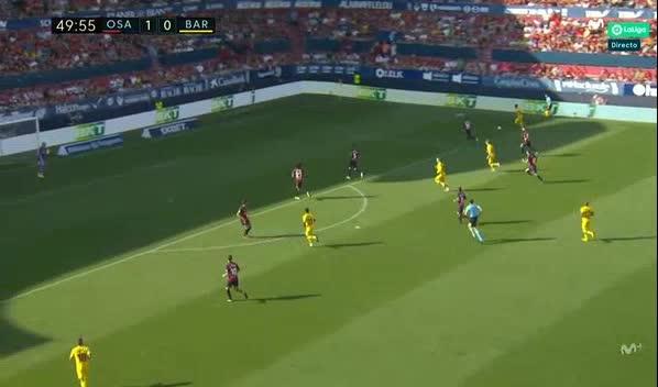هدف أول ل برشلونة (أنسو فاتي)