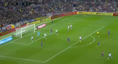 هدف خامس ل برشلونة (لويس سواريز)