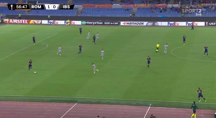 هدف ثاني ل روما (إدين دزيكو)