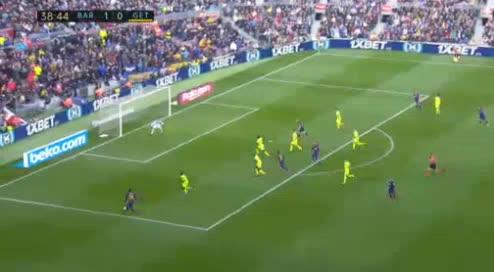هدف ثاني ل برشلونة (سيرجي روبيرتو)