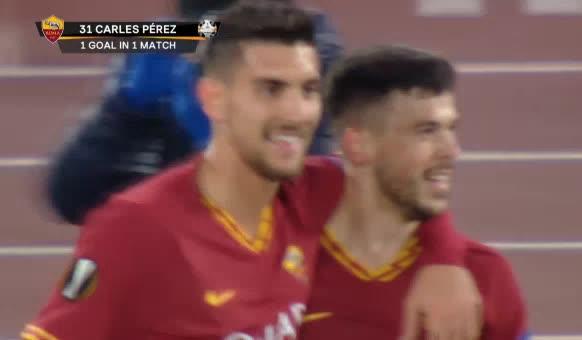 هدف أول ل روما (كارليس بيريز)